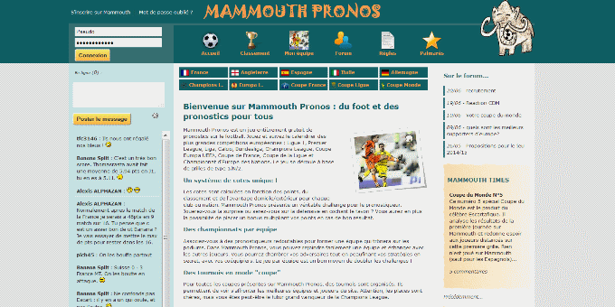 mammouth pronostics jeu gratuit de paris pronostics. Black Bedroom Furniture Sets. Home Design Ideas
