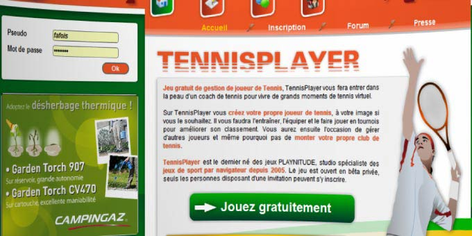 Jouer à TennisPlayer