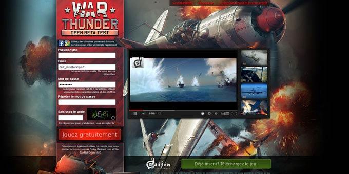 Cliquez sur l'image pour jouer à war thunder. l'inscription est
